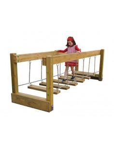 Escalier oscillant horizontal pour aire de jeu
