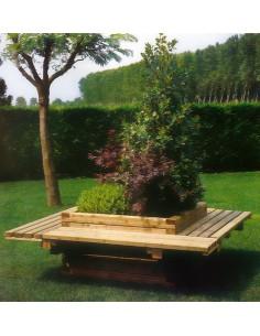 Banc-jardinière carré