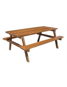 Table picnic vernissée