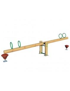 Balancier rustique 4 places pour aire de jeux