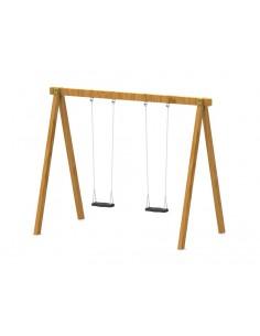 Balançoire rustique bois rectangulaire pour aire de jeux