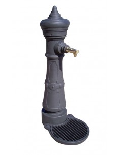 Fontaine avec finitions en oxyrón noir