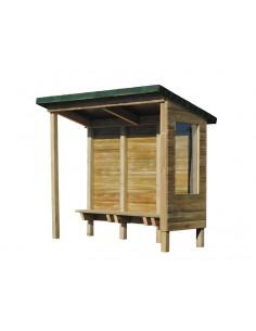 Abribus rustique en bois