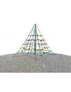 Filet d'escalade pyramide pour aire de jeux 2,5 m de haut
