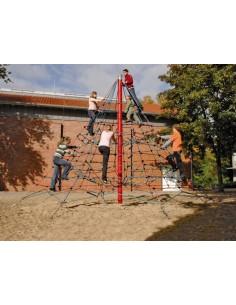 Filet d'escalade pyramide pour aire de jeux 4,5 m de haut