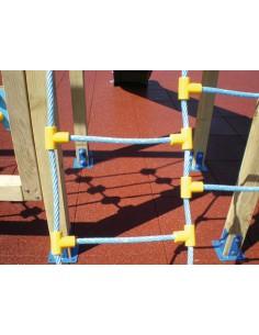 Passage pour escalier à cordes