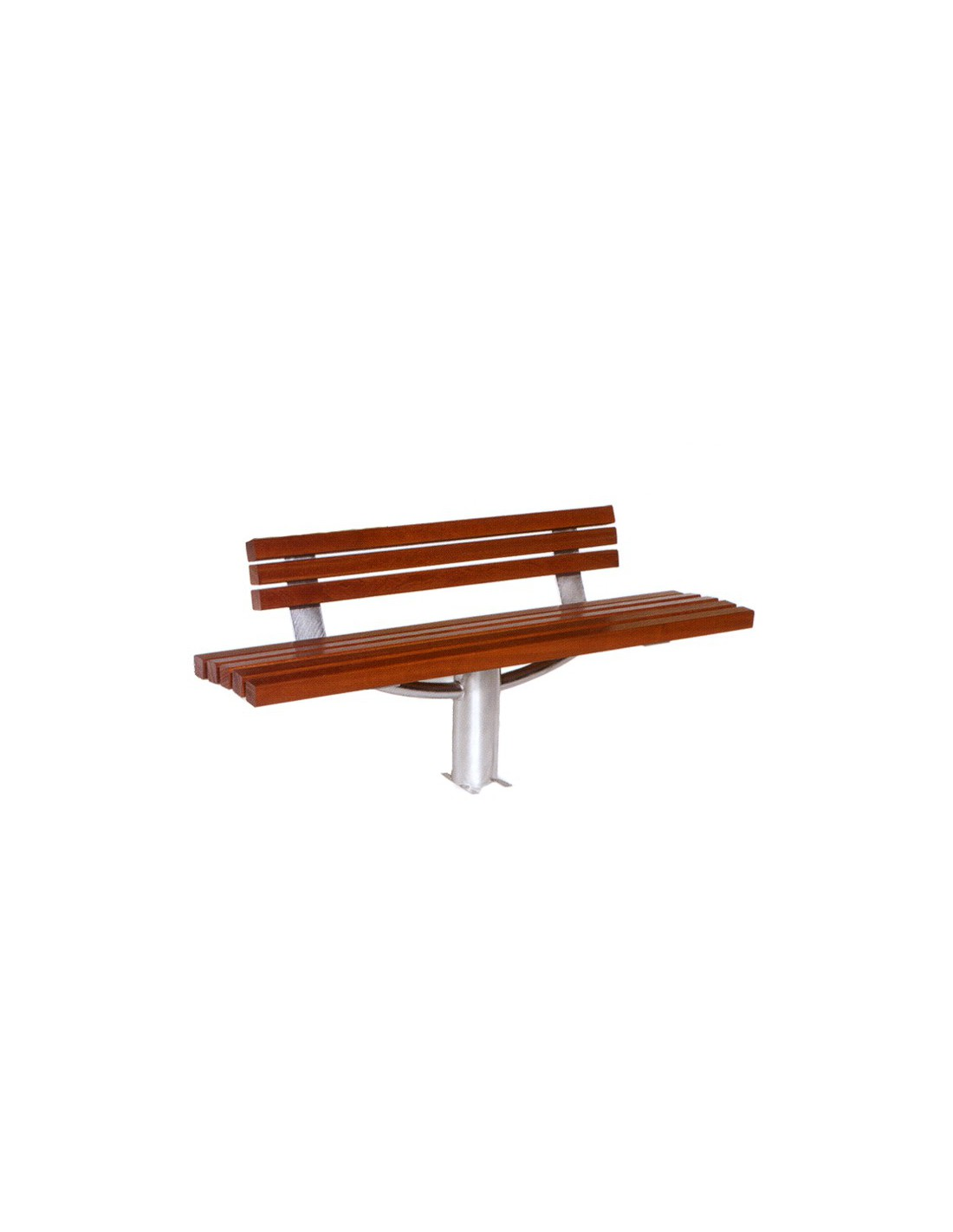 banc acier et bois diana le mobilier urbain. Black Bedroom Furniture Sets. Home Design Ideas