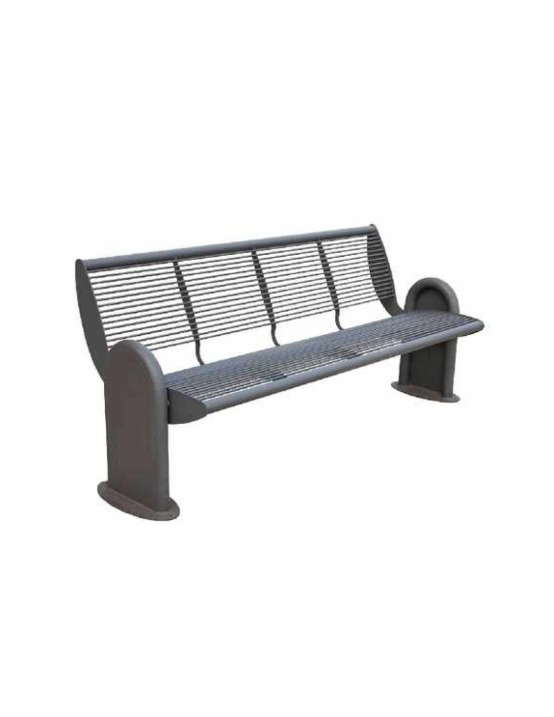 banc acier esira le mobilier urbain. Black Bedroom Furniture Sets. Home Design Ideas