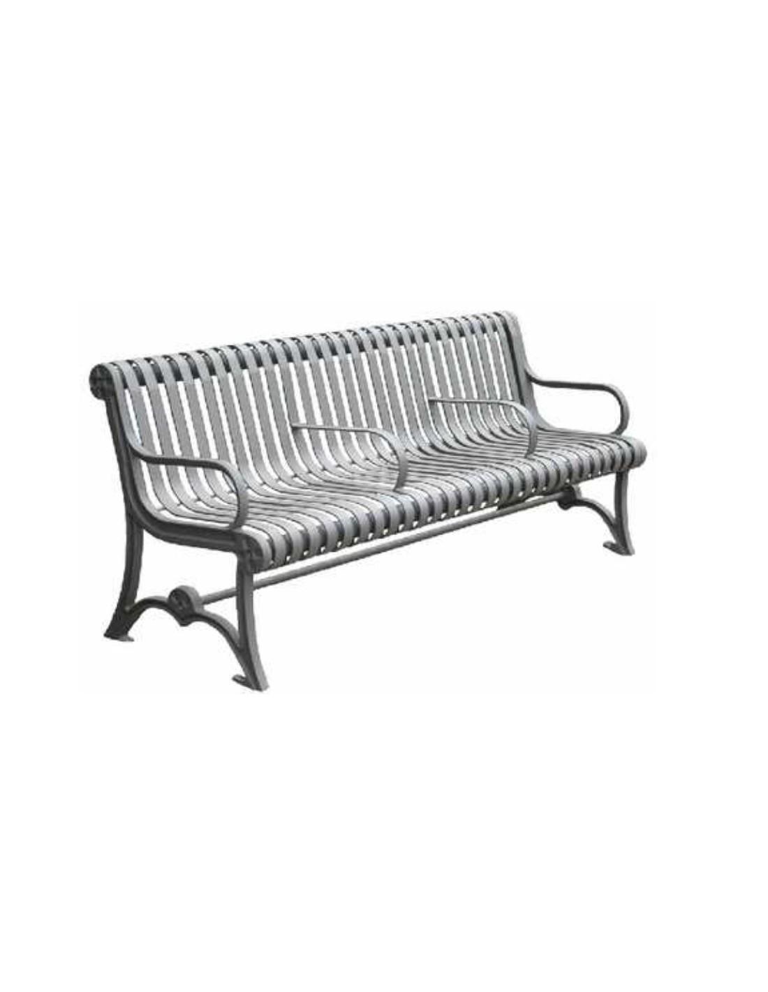 banc acier et fonte phany le mobilier urbain. Black Bedroom Furniture Sets. Home Design Ideas