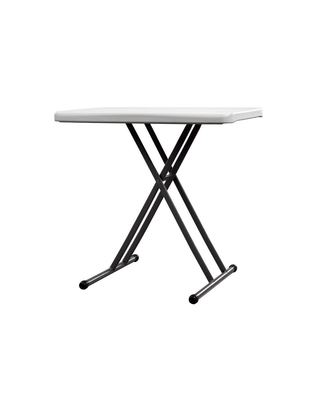 Table haute rectangulaire reglable - Table haute pliante rectangulaire ...
