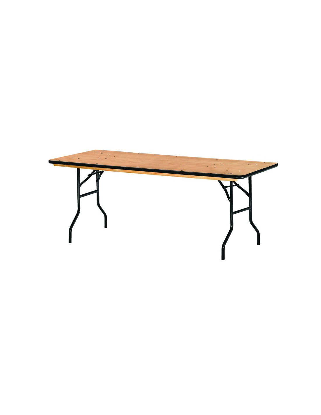 Table pliante bois exotique rectangulaire tarragone - La table exotique ...