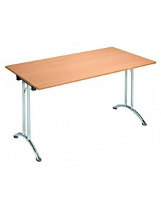 Table bois exotique pliante rectangulaire Tarragone