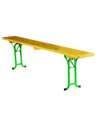 Banc pliant bois vienne for Table et banc pliant castorama