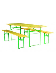 Ensemble Table et Banc Pliant Bois Pragues