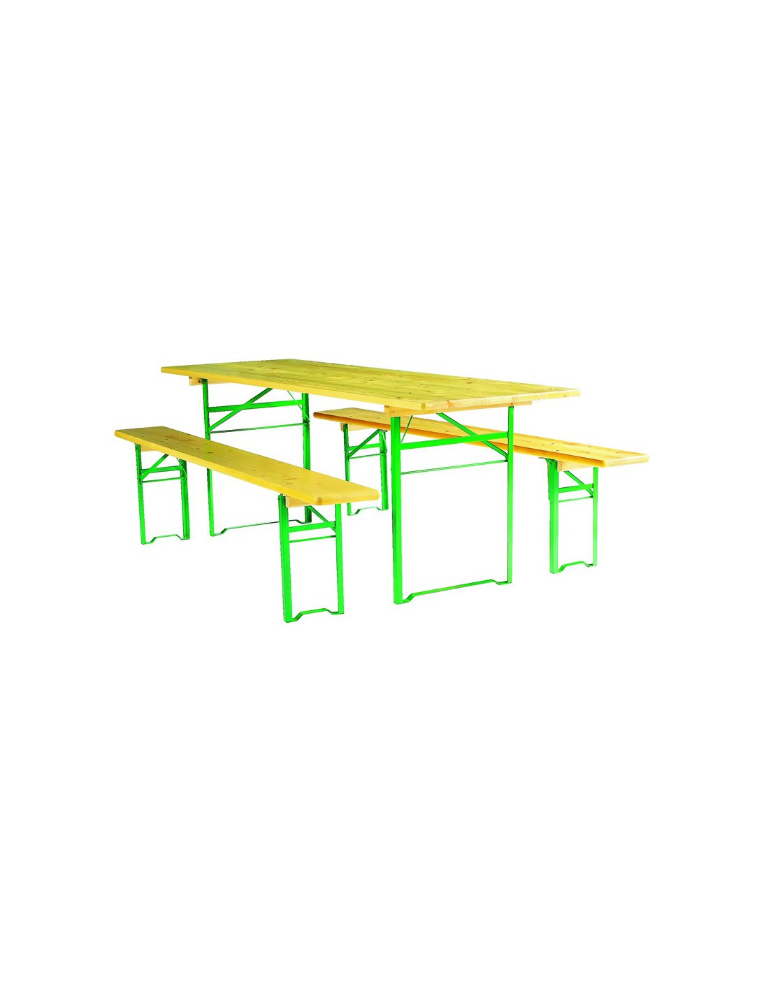 Ensemble table et banc pliant bois pragues - Ensemble table et banc ...