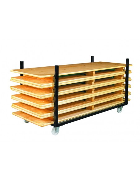 Chariot pour tables rectangle n°2