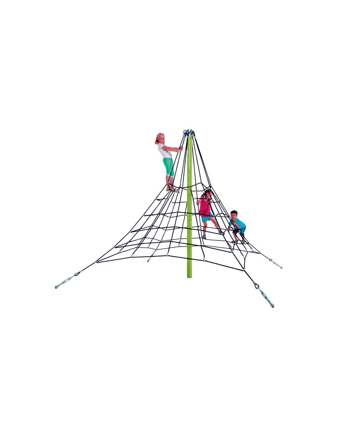 pyramide en filet de corde arm e araign e. Black Bedroom Furniture Sets. Home Design Ideas