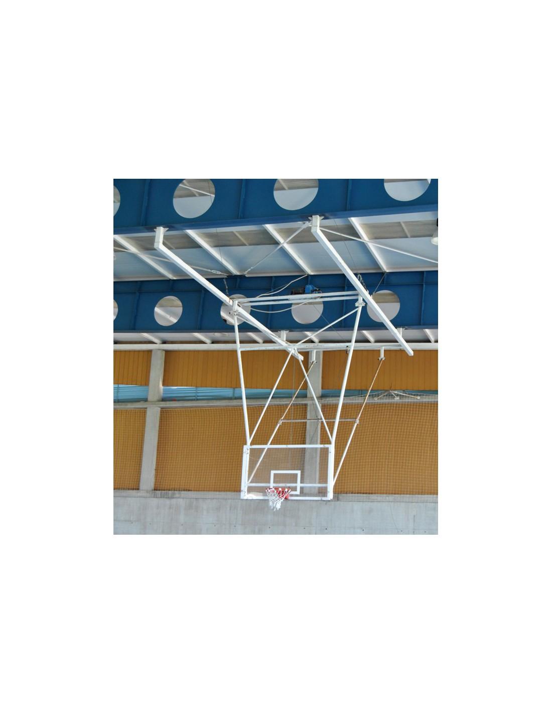 kit panier de basket r glable multitubulaire suspendu toit et rabatable. Black Bedroom Furniture Sets. Home Design Ideas