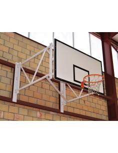 Ensemble panier de basket fixation mur et rabattable