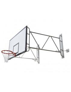 Ensemble panier de basket section tubulaire rond et rabattable