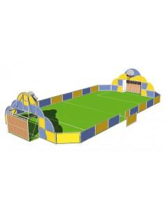 Zone multi-sports, planches en HPL, 21x10m