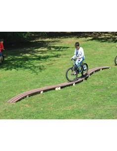 Passerelle à courbes bois autoclave