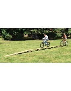 Passerelle droite pour parcours vélo