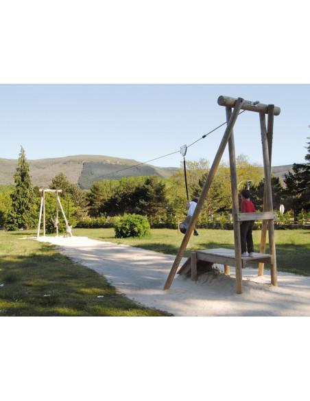 Tyrolienne Mouro pour aire de jeux