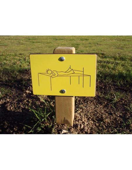 Panneau de signalisation 0.30 m de haut