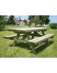 Table picnic démontée