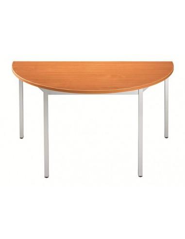 Table réunion FIXE Demi-ronde
