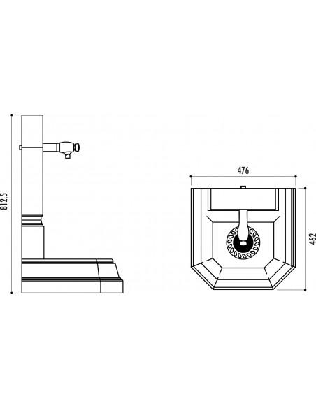 Fontaine à eau fonte Portal