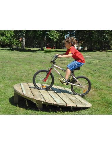 Parcours vélo plan incliné, bois autoclave